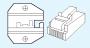 Matrice per RJ45 8POS (AMP escl)